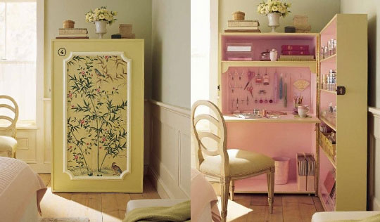 Hidden Desk Armoire 540 x 316