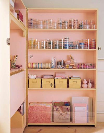 DIY Armoire from bookshelves - lots of organization and storage
