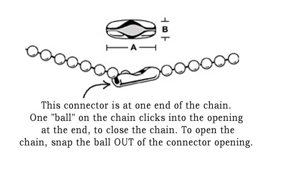 how to open the connector on a blall chain necklace