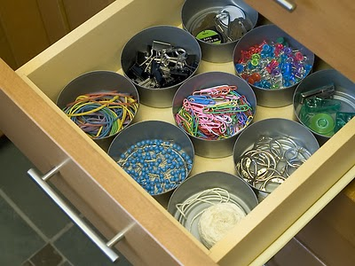 do it yourself storage using recycled tin cans