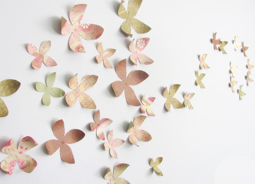 recycled paper flowers DIY how to from Billie Monster blog