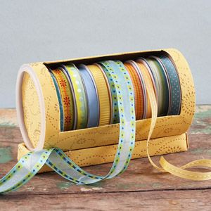 DIY recycled ribbon storage