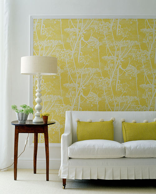 Wallpaper as Art - DIY Idea from Style Files dot com