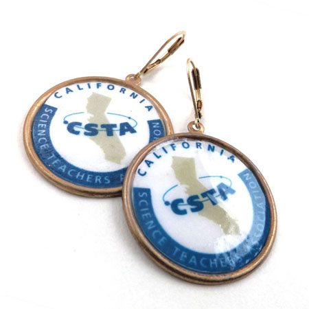 California Science Teachers Assocation logo earrings