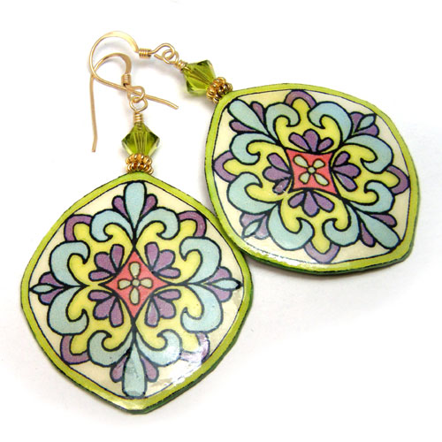 Mosaic Earrings with Custom Colors